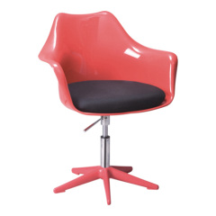 Exquisite Red Gas Lift Tulip Armchair office desk furniture paded cushion chairs