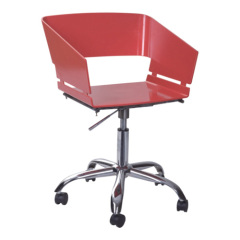 Fashion red Gas Lift wheels base office Armchair desk reception room furniture chairs whlesale