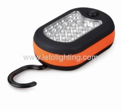 LED Work Light 24 + 3 LED with swivel hook