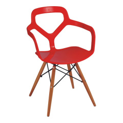 Red plastic Eames arm chair armchairs dining office computer room furniture chairs store