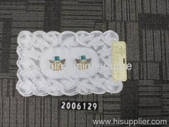 Lace crochet table plate mat