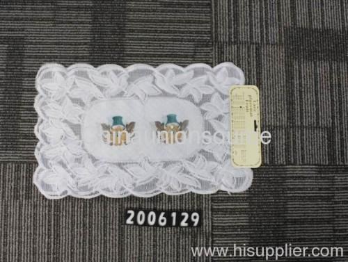 Lace crochet table plate mat