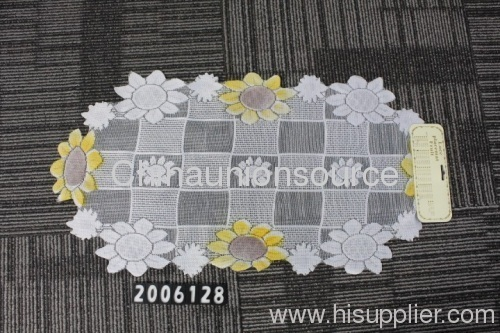 Lace crochet table plate mats