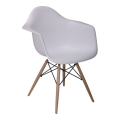 Modern white Eames DAW Chair with Wood Base armchair dining reception the arm chairs room furniture stores