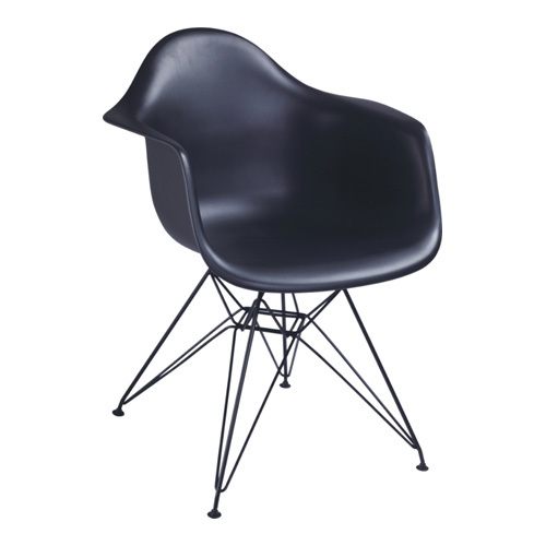 Attractive Modern Black Steel Base Eames DAR Chair Armchair Dinging Office Living Room  Furniture Chairs Shops