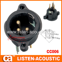 connector XLR male female 3pins 3holes plug pins