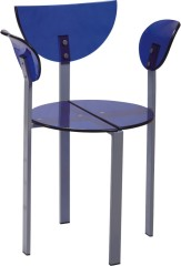 Exquisite Royal Blue Clear Acrylic Dining Chair armchair desk living room furniture chairs wholesale stores