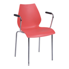 Modern red PP leisure Armchair chair dining room furniture desk reception office chairs shops