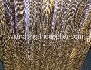 hotel use decorative metal cloth aluminum alloy wire mesh