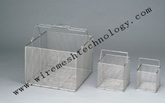 stainless steel wire sterilizing basket