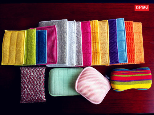 Microfiber Dish Cleaning Cloth Sponges Pads