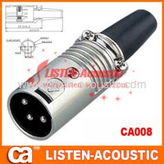 3P/4P/5P/6P/7P XLR male MIC connector in metal-design CA008/008N