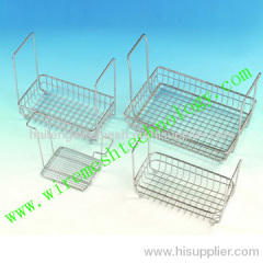 with handle Stainless steel medical basket