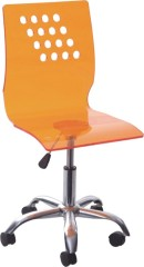 Gorgeous Wheeled gas lift Acrylic Office Chair ergonomic room computer desk reception side chairs furniture for sale
