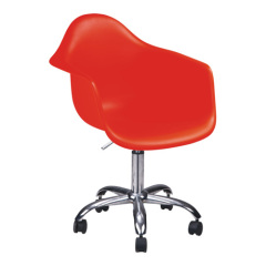 Popular Red Wheeled Gas Lift Acrylic Office Chair computer desk reception armchairs chairs furniture shops
