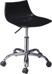 Modern Black Wheeled Gas Lift Acrylic Office Chair bar bistro room reception furniture chairs wholesale shops