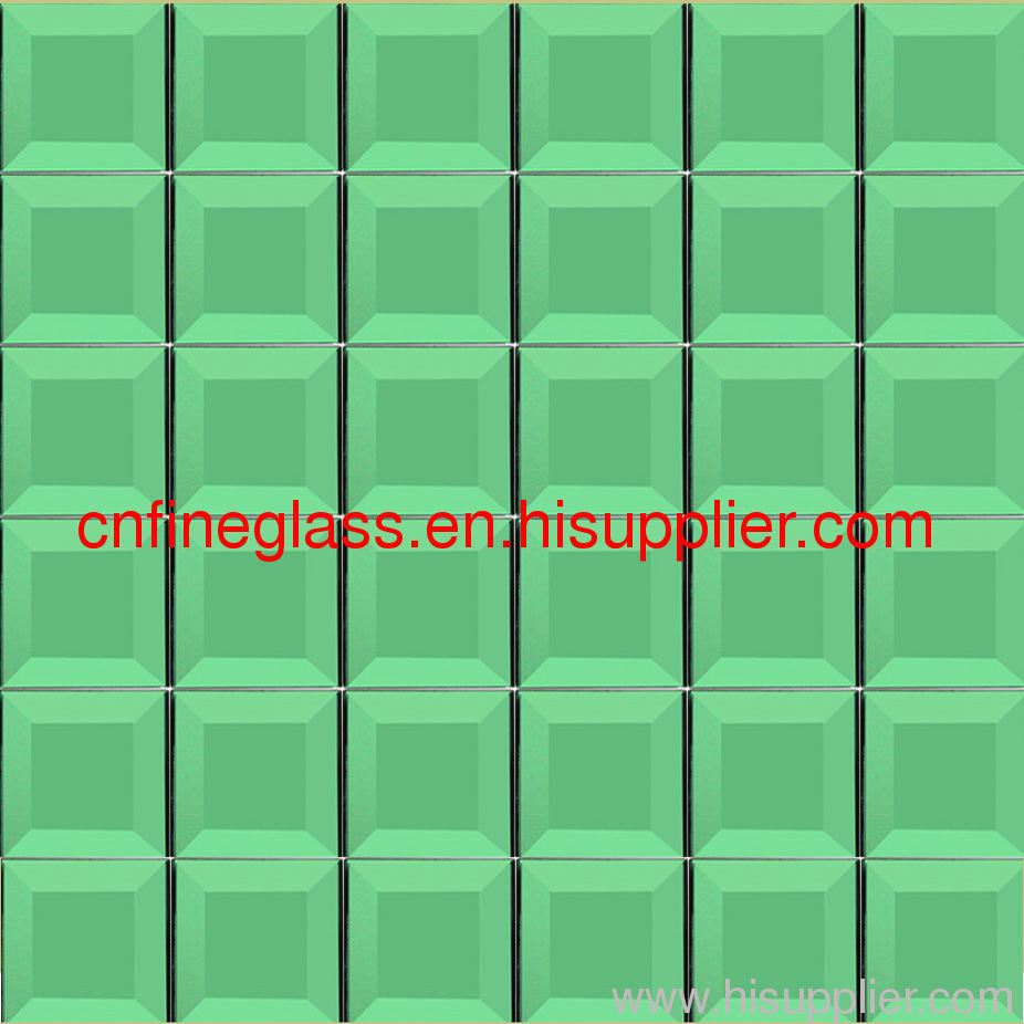 For colourful interior use mosaic glass
