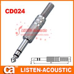6.3mm mono / stereo plug connector CD024/024N