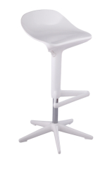 Modern design white PP Spoon Stool bar chair barstools counter chair contemporary furniture