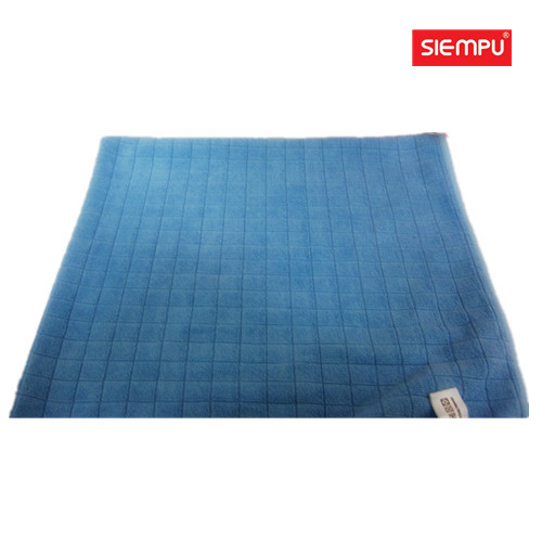 Microfiber Weft Knitting Grid Cleaning Cloth (XQC-C007)