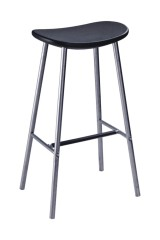 Simple style Black PP Bar Chair barstool pub bistro stools dining breakfast furniture for bar shops