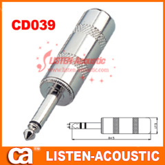 6.3mm mono / stereo plug connector CD039/039N