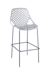 Exquisite Honeycomb white PP Bar Chair height barstool outdoor bar counter stools chairs furniture shops