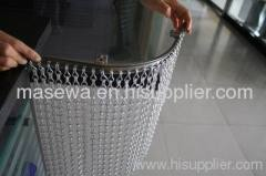 Aluminumchin link mesh used as divider