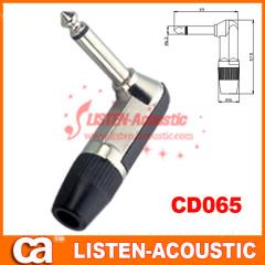 6.3mm mono / stereo plug connector 90 degree CD065/065N