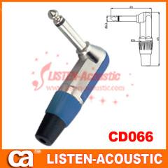 6.3mm mono / stereo plug connector 90 degree CD066/066N
