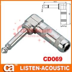 6.3mm mono / stereo plug connector 90 degree CD069/069N