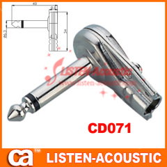 6.3mm mono / stereo plug connector 90 degree CD071/071N