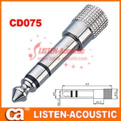 6.3mm mono / stereo plug connector CD075/075N