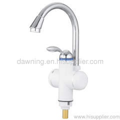 Electric faucet large bent with water coming from down side
