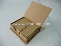 recycle paper memo pad box