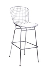 Modern Chromed Steel and PVC Cushion Bar Chair footrest ergonomic barstools coffee pub bistro side bar chairs stools