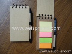Notebook with memo pad
