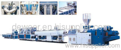 PVC double pipe extrusion machinery