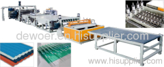 PVC plate making lines
