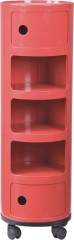 Wholesale manufacturer from China Red Wheeled Storage Rack 5 Units Living Room Furniture Round Boxes Suppliers