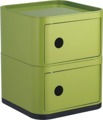 Chinese manufacturers Green Plastic Storage Box Square 2 layers units Boxes Bedroom futniture