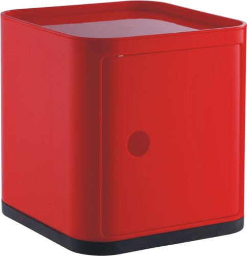 China Suppliers Plastic Abs Red Square Storage Box Living