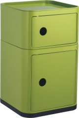 Professional plastic manufacturer Componibili Storage Box Green Square 2 layers Boxes Wholesale