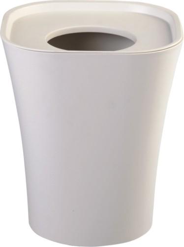 Modern Design White Round Plastic Trash Can