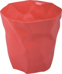 Fashion Red plastic round Trash can garbage cans container household plastic products mould In China