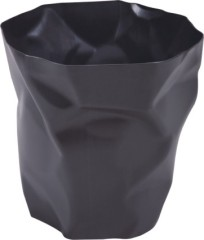 Fashion Black Plastic Garbage Can Trash Cans Bin Household product kitchen office waste collection