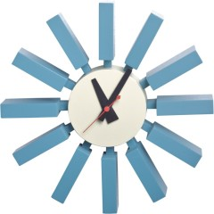 Modern Art Wall Block Clock round wooden scale with steel plate decorative kitchen Clocks