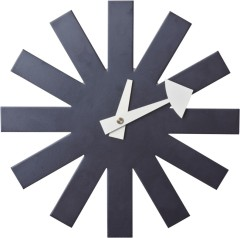 Black wooden scale with steel plate wall Art Clock Clocks