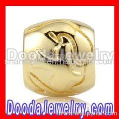 Gold european Beads Wholesale