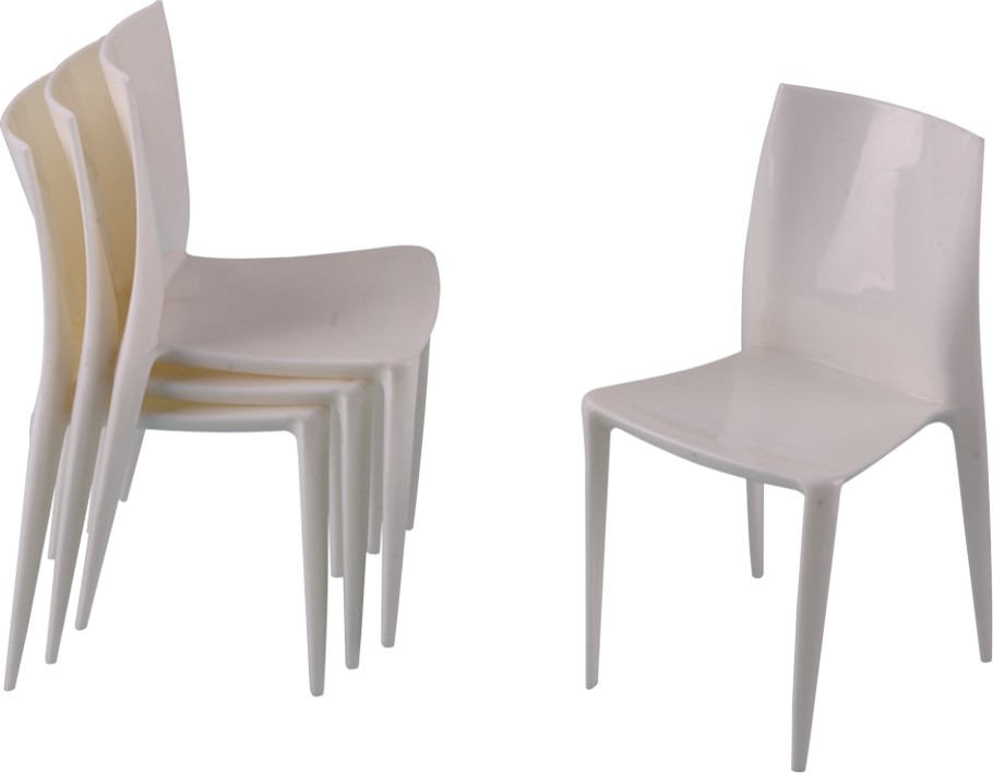 Luxury white plastic mini side chair for children desk for White plastic dining chair